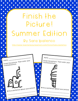 Finish the Picture Writing Packet: Summer Edition
