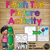 Finish the Picture Writing Prompts Activity, Morning Work, Early Finisher
