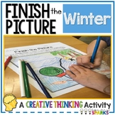 Winter Finish the Picture Creative Thinking Activity