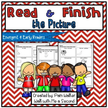 Finish the Pictures for Emergent and Early Readers   Distance Learning