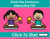 Finish the Sentence Distance Learning Interactive PDF