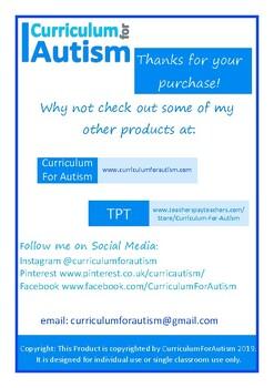 Finish the Sentences Set Autism Special Education Speech ESL