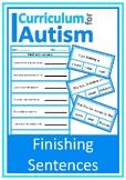 Complete the Sentence Autism Reading Literacy ESL Speech