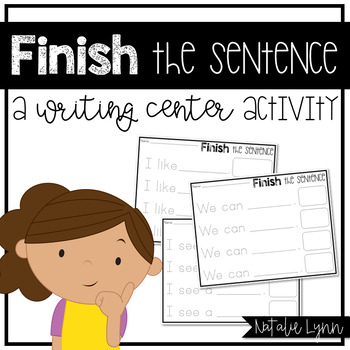 Finish the Sentence Writing Center Activity