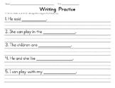 Finish the Sentence and Writing Mechanics