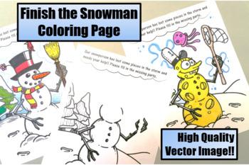 Finish the Snowman Worksheet