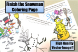 Finish the Snowman Worksheet