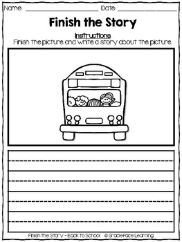 Writing Prompts - Finish the Story - Back to School