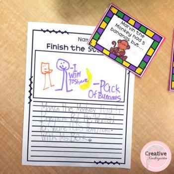 Finish the Story... Kindergarten Story Writing Activity