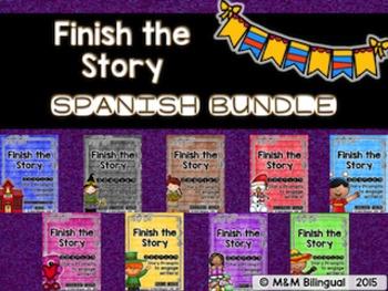 Finish the Story - Yearly BUNDLE {SPANISH}