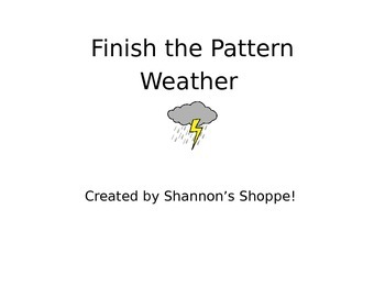 Finish the Weather Pattern