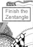 Finish the Zentangle