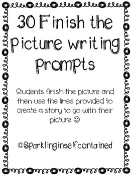Finish the picture writing prompts #spedislucky