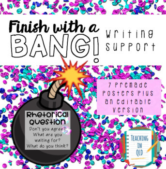 Finish with a BANG! Writing Support