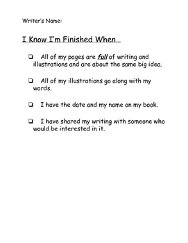 Finished Checklist