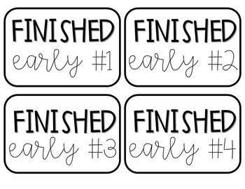 Finished Early Labels FREEBIE!
