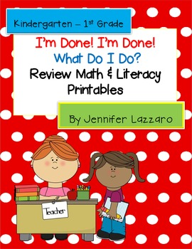 Extras... Finished Early? Meaningful Work for Primary Students - Math & Literacy