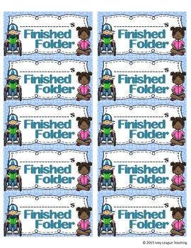 Finished Folder Labels