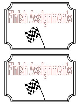 Finished Work Task Cards