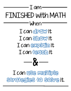 Finished with Math Poster