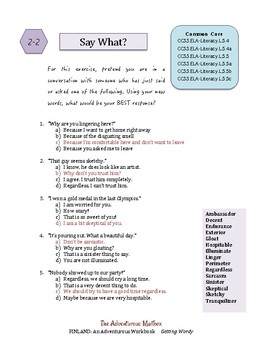 Finland: Getting Wordy ~ Vocabulary-building Workbook