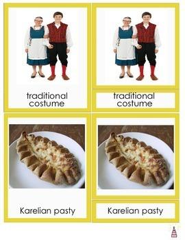 Finland Montessori 3-part Cards