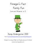 St. Patrick's Day Number Bonds and Fact Family Fun