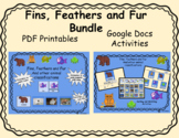 Fins, Feather and Fur Animal Classification Bundle for Google Docs and Printing