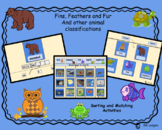 Fins, Feathers and Fur-Animal Classification Activities for Google Docs