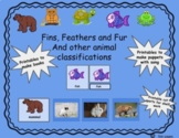 Fins, Feathers and Fur- Animal Classification Activities for printing
