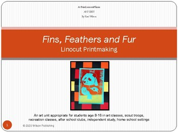 Fins, Feathers, and Fur Printmaking Unit