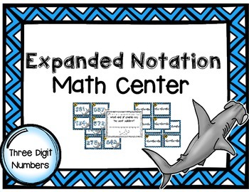 """""""Fin""""tastic Expanded Notation Place Value Center"""