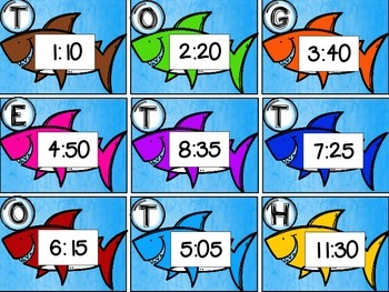 """Fin""tastic Telling Time Math Center"
