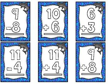 """""""Fin""""tastic Word Problem Matching Math Center"""