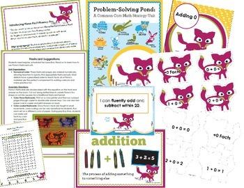 Addition Math Facts Essentials Bundle {Fiona Fact-Fluency Fox}