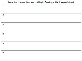Fire Bear's Sentence Fix-Up
