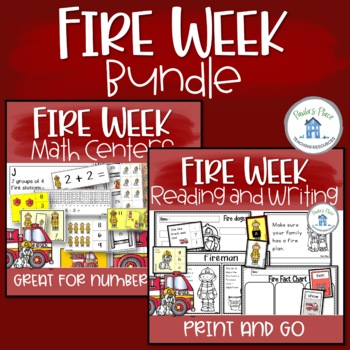 Fire Bundle 10 Maths and 10 English Tasks K-1