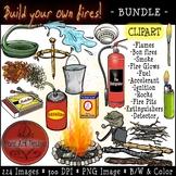 Fire {Clipart} BUNDLE: Build Your Own Fire!