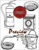 Fire CLIPART- Build Your Own Fire: Extinguish - Detect {Paez Art Design}
