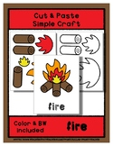 Fire - Cut & Paste Craft - Super Easy - Perfect for Pre-K