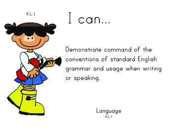Fire Department Kindergarten English Common core standards posters