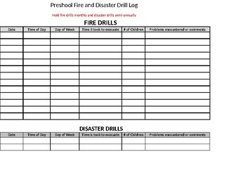 Fire & Disaster Drill Form