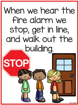 Fire Drill Routine Book Amp Posters By Pocket Of Preschool