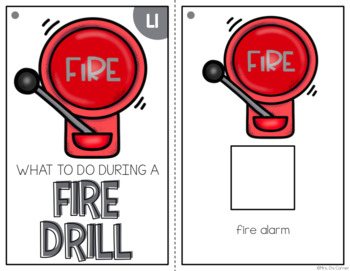 Fire Drill Adapted Book { Level 1 and Level 2 } Fire Prevention Week Fire Safety