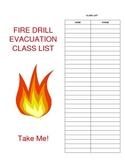 Fire Drill Class List