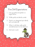 Fire Drill Expectations