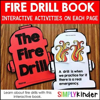 Fire Safety - Fire Drill Book for Kindergarten and First Grade