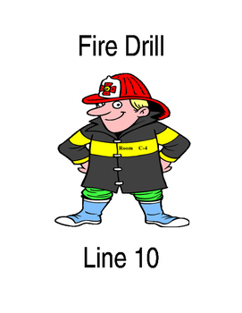 fire drill folder teaching resources teachers pay teachers rh teacherspayteachers com fire drill clipart black and white office fire drill clipart