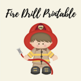 Fire Drill Printable