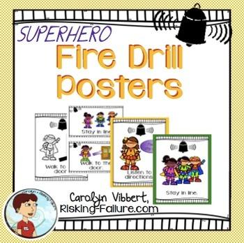 Fire Drill Procedure Posters
